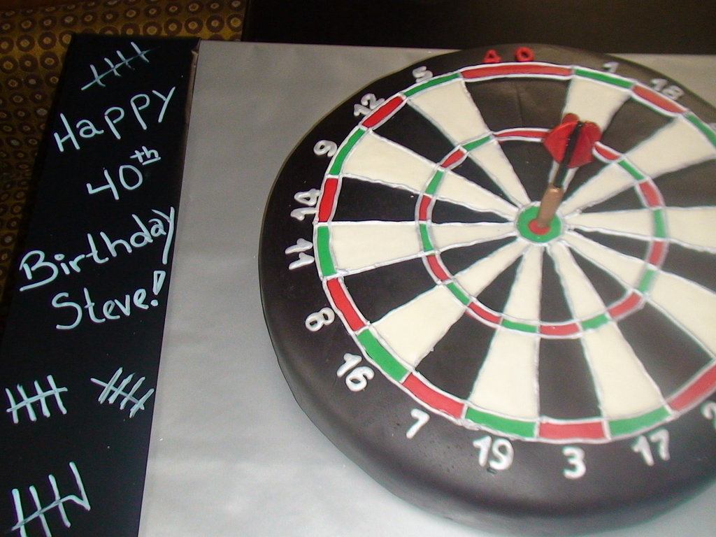 40th Birthday Dartboard Cake Cakecentral