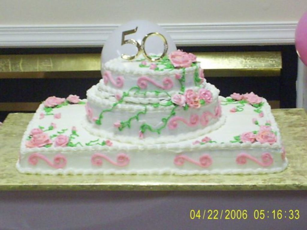 Big 50Th Birthday Cake CakeCentralcom
