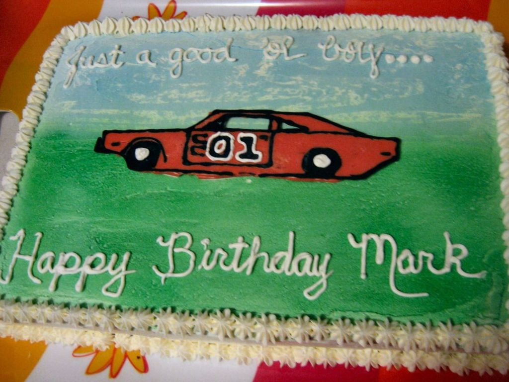 Groovy Dukes Of Hazzard Cakecentral Com Personalised Birthday Cards Arneslily Jamesorg