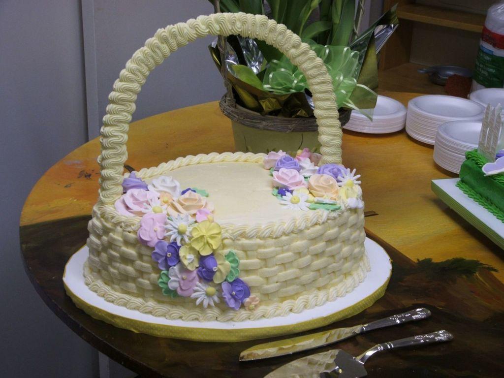 Easter cake basket cakecentral negle Images
