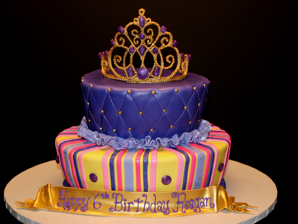Golden Birthday Gold Crown Cake Cakecentral