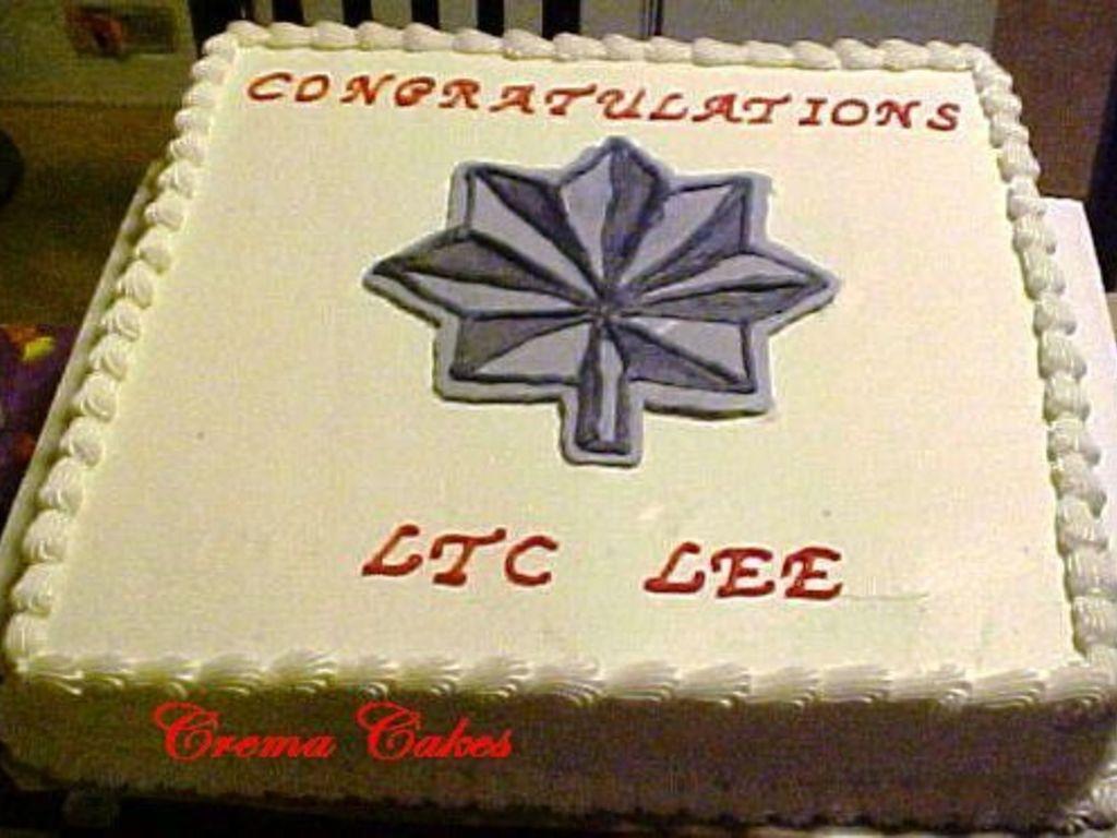 Lt Col Promotion Cake Cakecentral