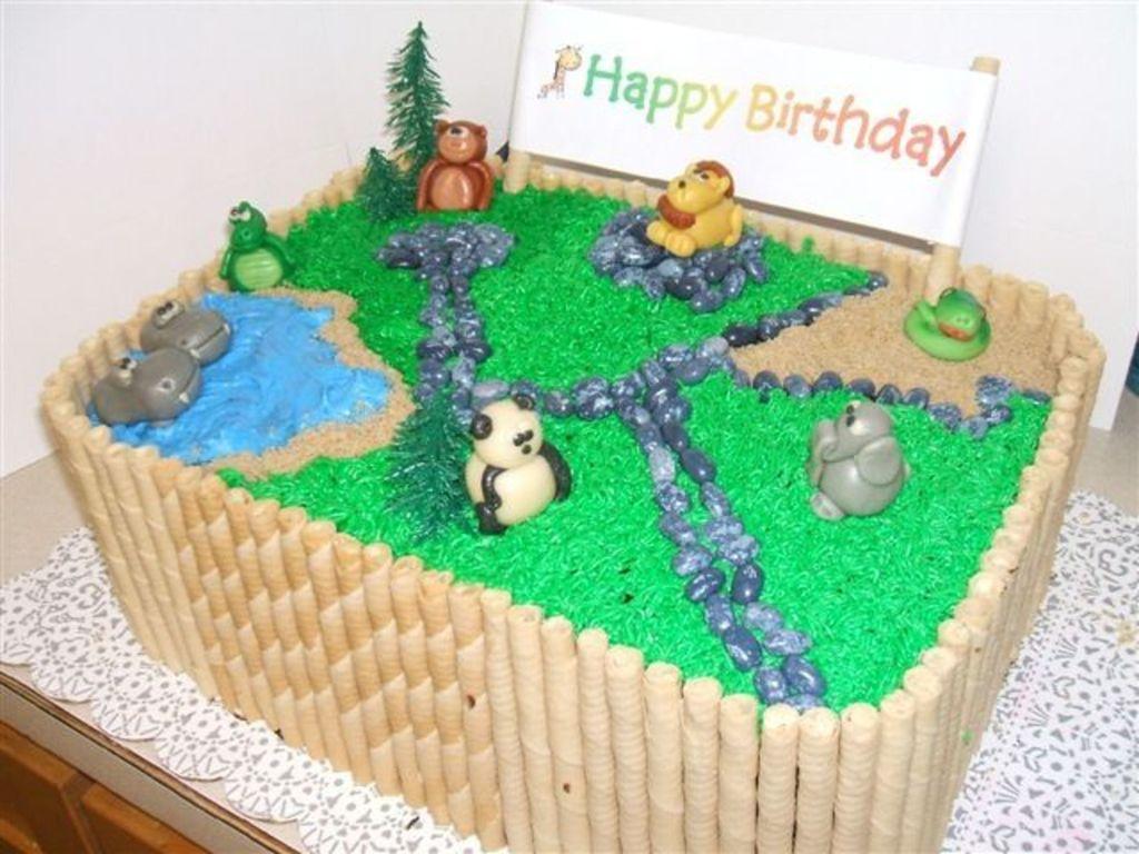 Prime Zoo Birthday Cake Cakecentral Com Funny Birthday Cards Online Amentibdeldamsfinfo
