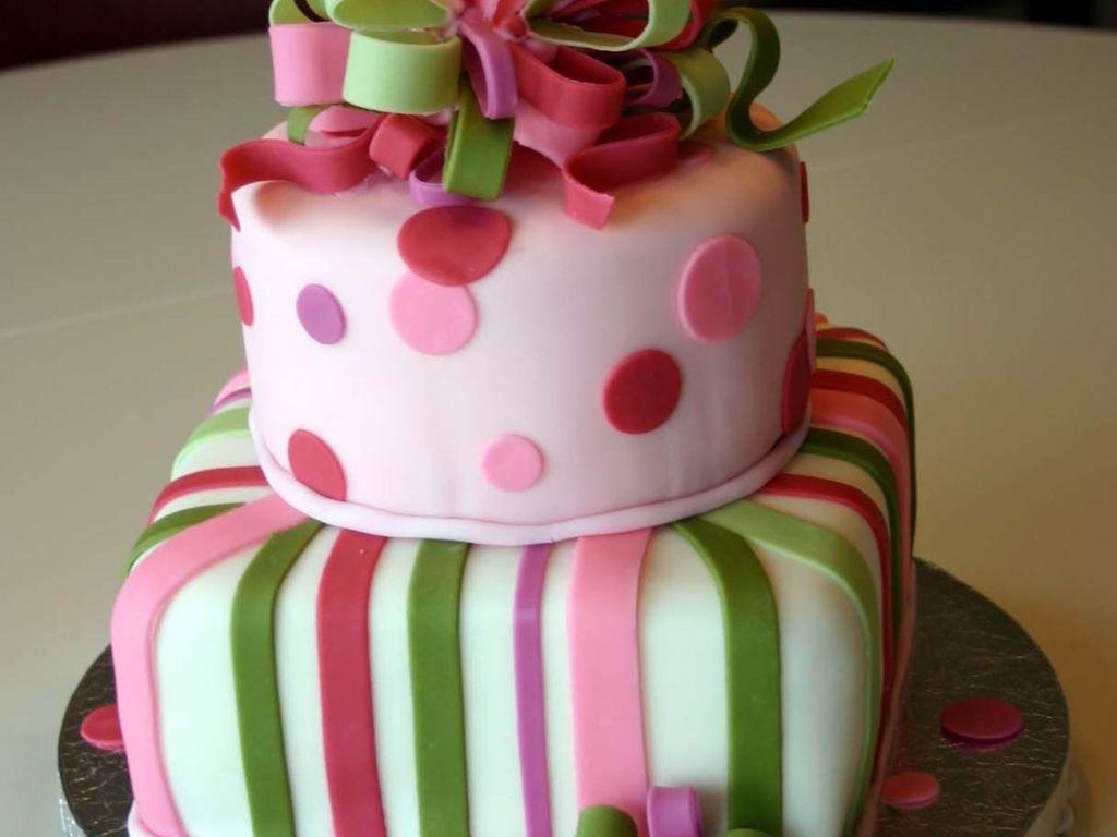 Swell Birthday Present Cake 2 Tier Cakecentral Com Funny Birthday Cards Online Drosicarndamsfinfo