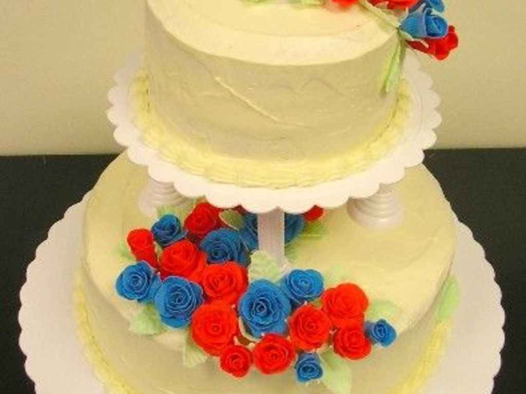 Red, White, And Blue - CakeCentral.com
