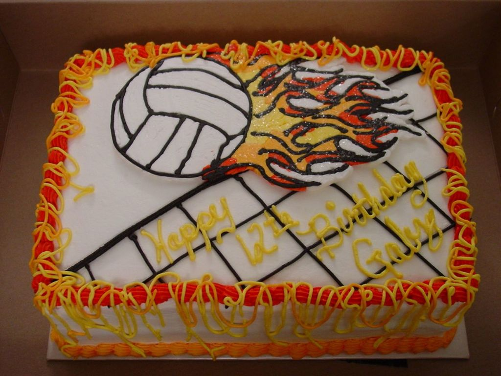 Magnificent Volleyball Birthday Cake Cakecentral Com Personalised Birthday Cards Beptaeletsinfo