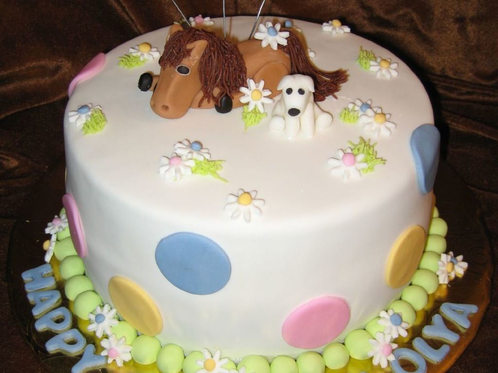 Horse And Dog Birthday Cake Cakecentral Com