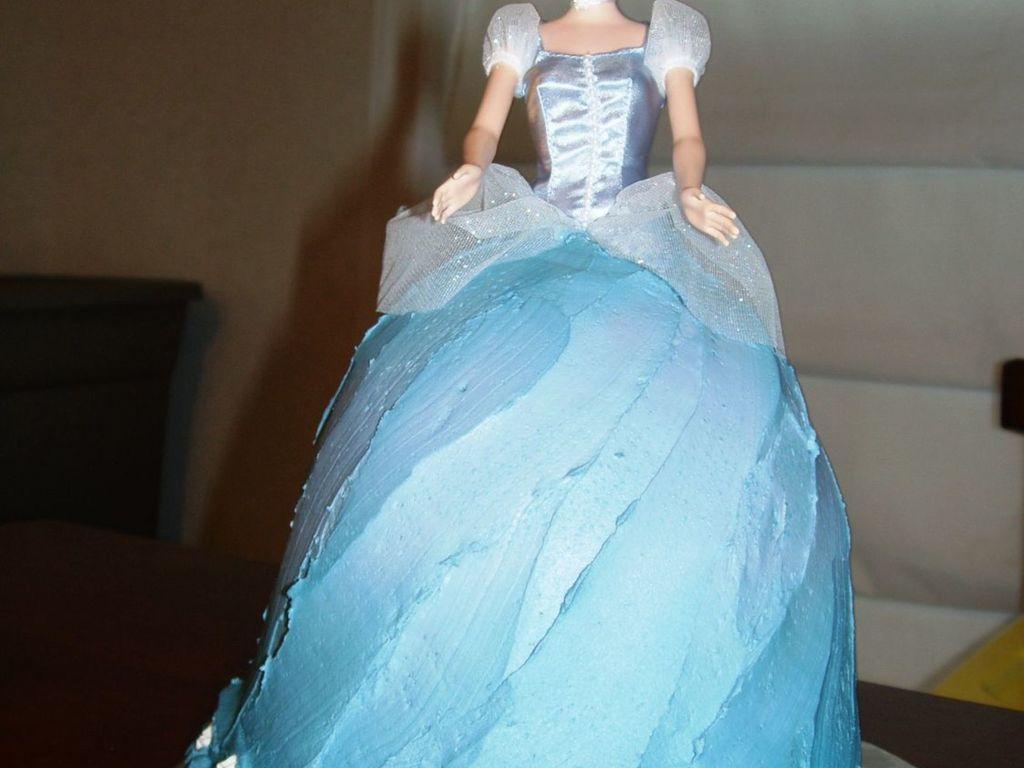Cinderella Barbie Cake - CakeCentral.com
