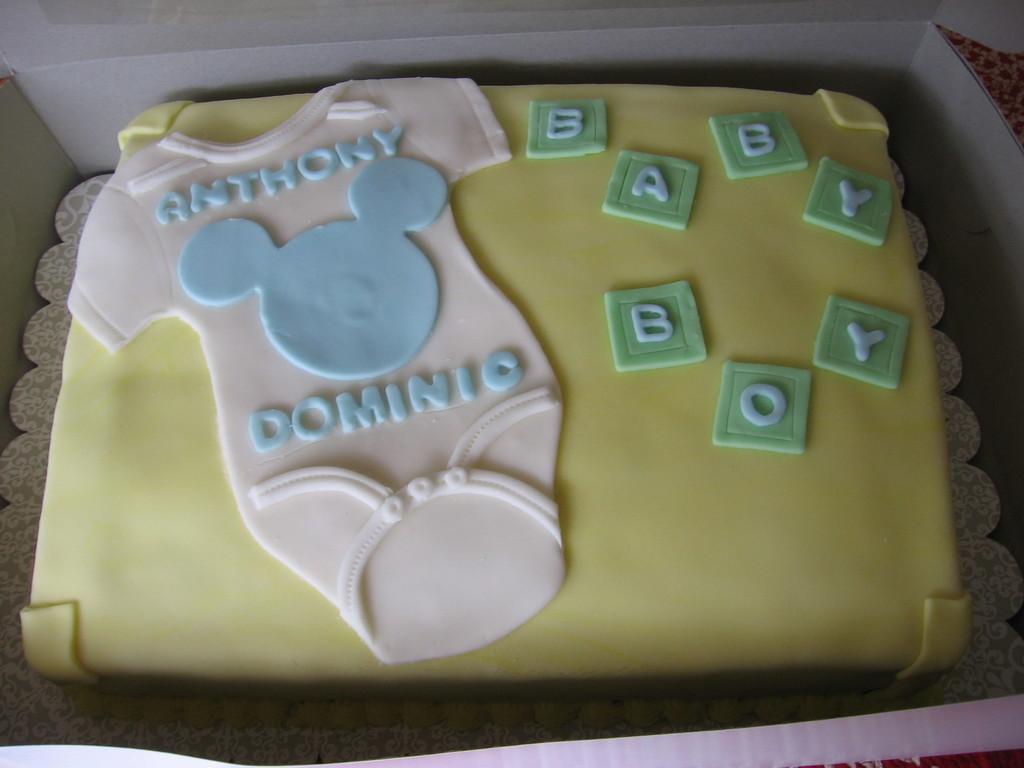 Pastel Onesie Baby Shower Cake Cakecentralcom