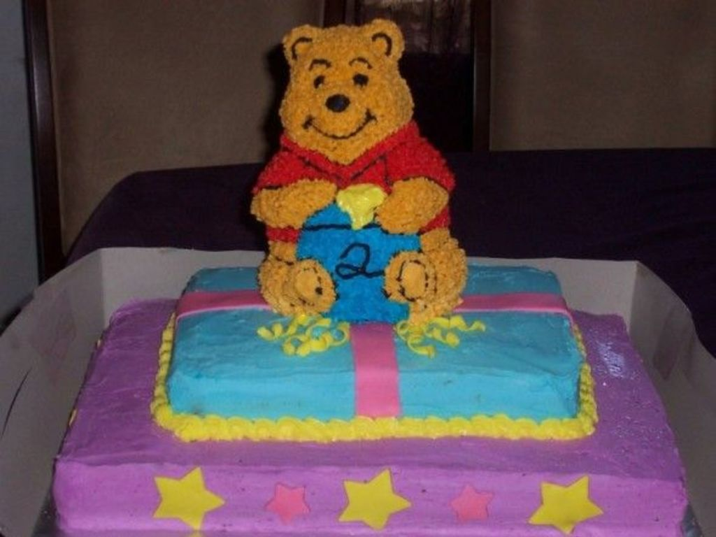 3 Tiered Winnie The Pooh Childrens Birthday Cake