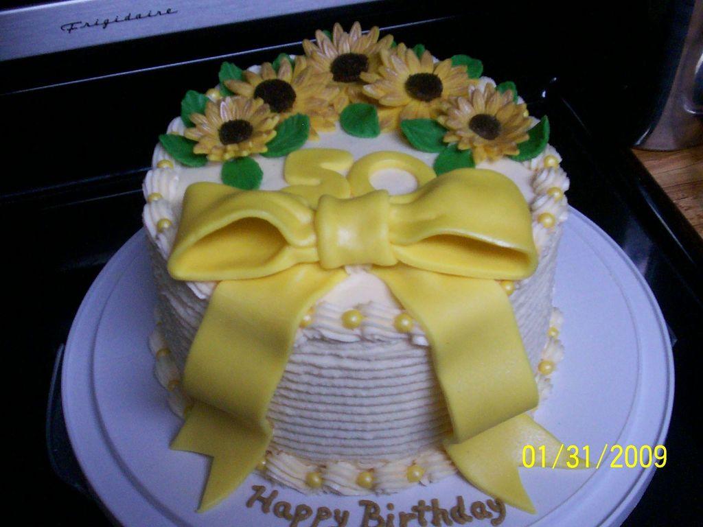 Astounding Sunflower Birthday Cake Cakecentral Com Funny Birthday Cards Online Necthendildamsfinfo