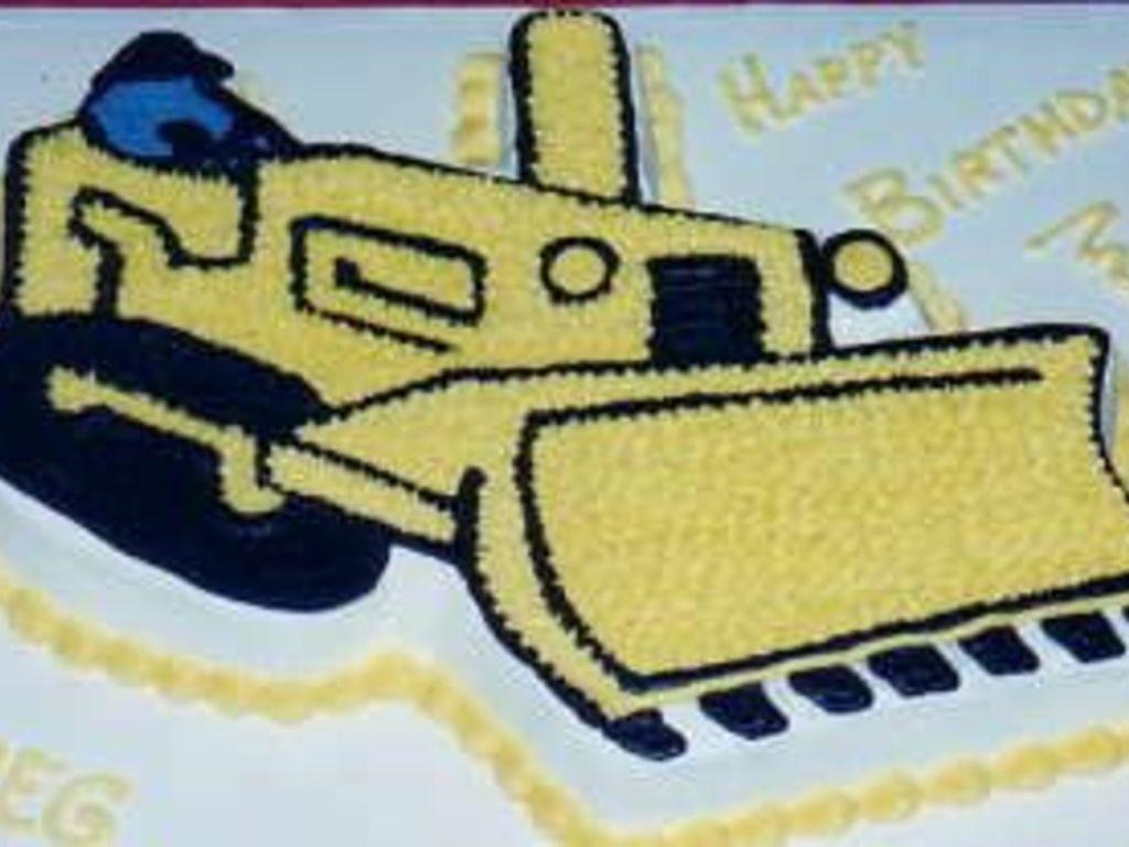Bulldozer Birthday Cake Cakecentral