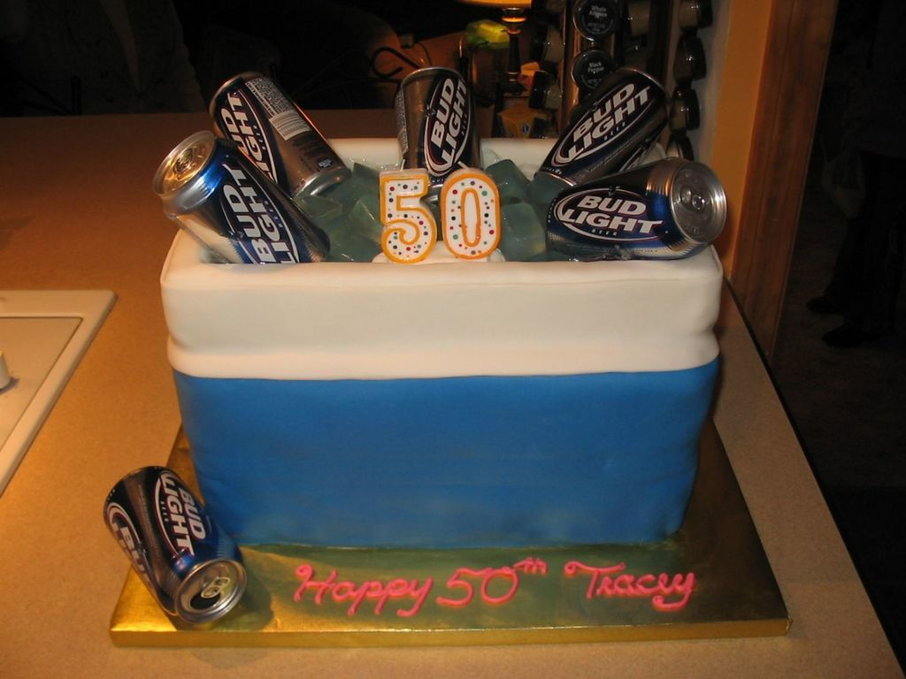 Beer Cooler Birthday Cake