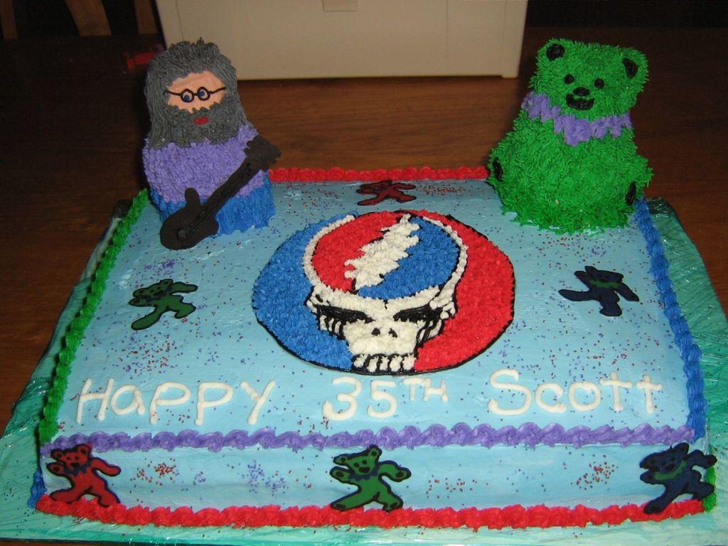 Grateful Dead Birthday Cake CakeCentralcom
