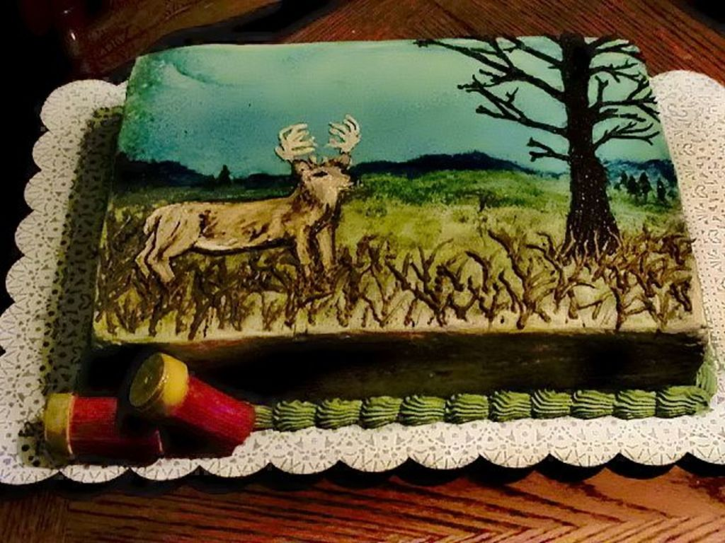 Cool Deer Hunting Birthday Cake Cakecentral Com Personalised Birthday Cards Veneteletsinfo