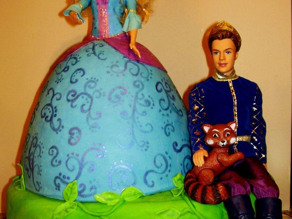 Barbie Island Princess Doll Cake With Prince Cakecentral Com