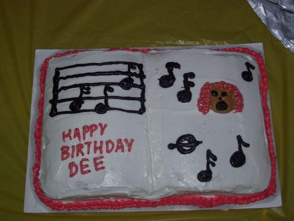 Terrific Singing Birthday Cake Cakecentral Com Personalised Birthday Cards Paralily Jamesorg