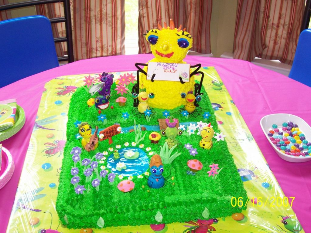Outstanding Sunny Patch Miss Spider Birthday Cake Cakecentral Com Personalised Birthday Cards Paralily Jamesorg