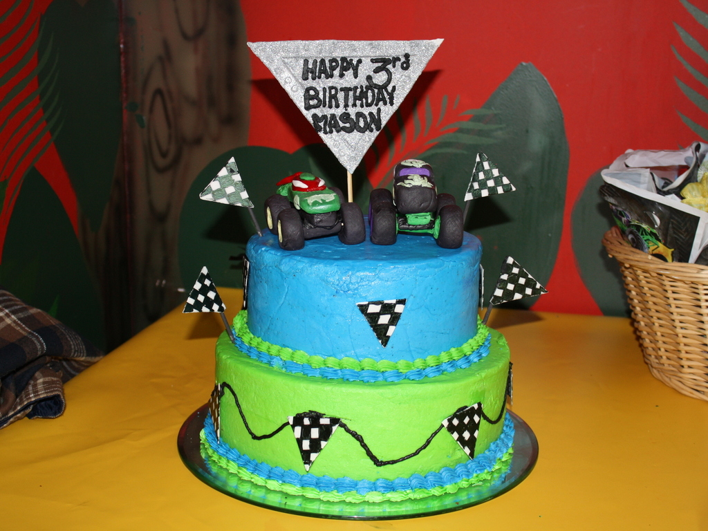 Brilliant Monster Jam Birthday Cake Cakecentral Com Funny Birthday Cards Online Elaedamsfinfo