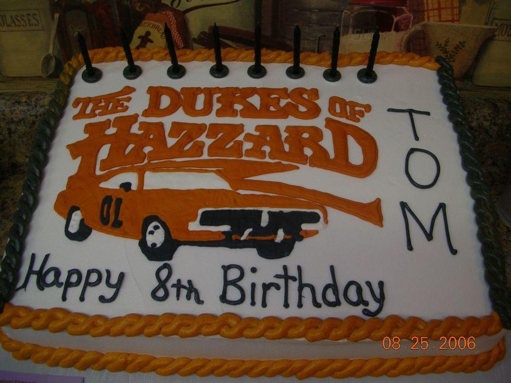 Fine Dukes Of Hazzard Birthday Cake Cakecentral Com Personalised Birthday Cards Arneslily Jamesorg