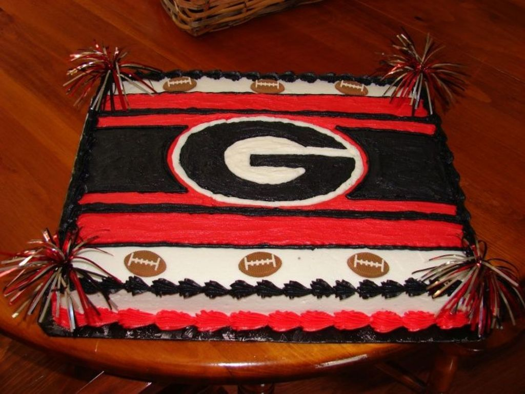 Remarkable Georgia Bulldogs Cakecentral Com Funny Birthday Cards Online Elaedamsfinfo