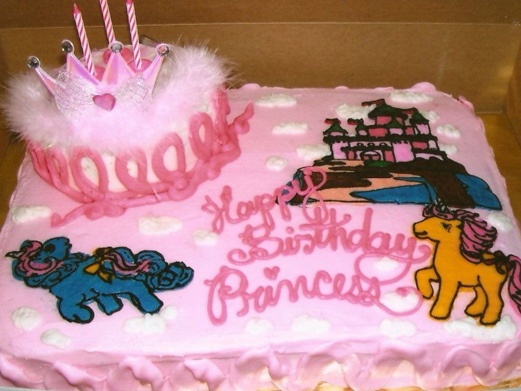 Wondrous Birthday For 3 Year Old Girl Castle And Unicorns Cakecentral Com Funny Birthday Cards Online Overcheapnameinfo