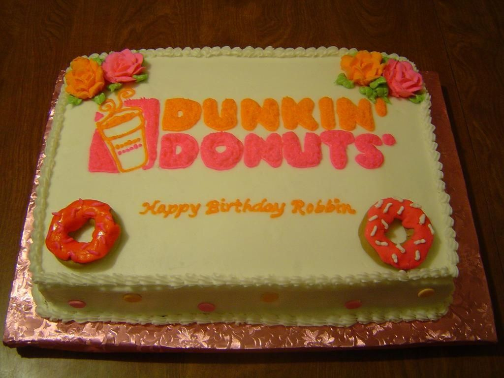 Phenomenal Dunkin Donuts Birthday Cake Cakecentral Com Personalised Birthday Cards Paralily Jamesorg