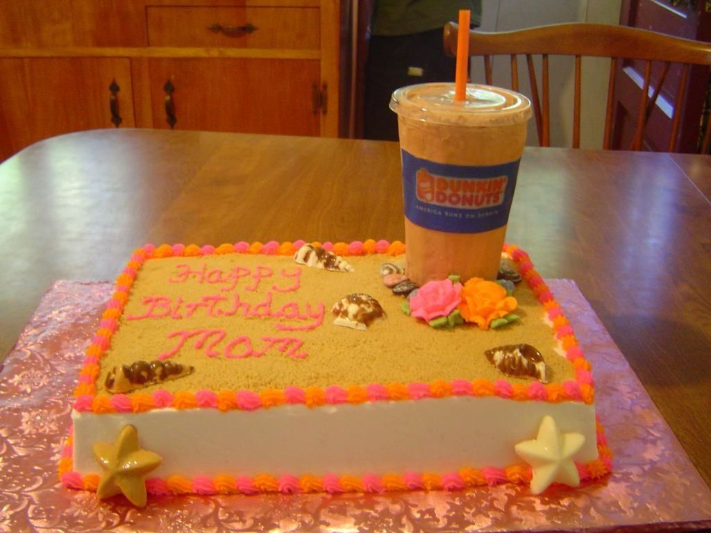 Strange Dunkin Donuts Iced Coffee Goes To The Beach Cakecentral Com Personalised Birthday Cards Paralily Jamesorg