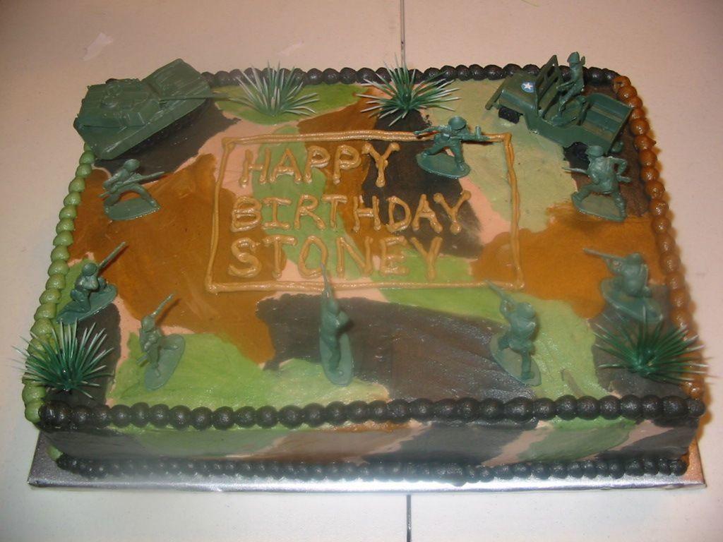 Little Boys Army Birthday Cake Cakecentral
