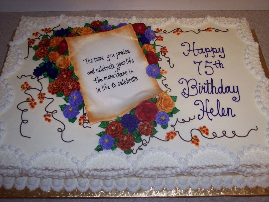 Pleasant 75Th Birthday Celebration Cakecentral Com Funny Birthday Cards Online Inifofree Goldxyz