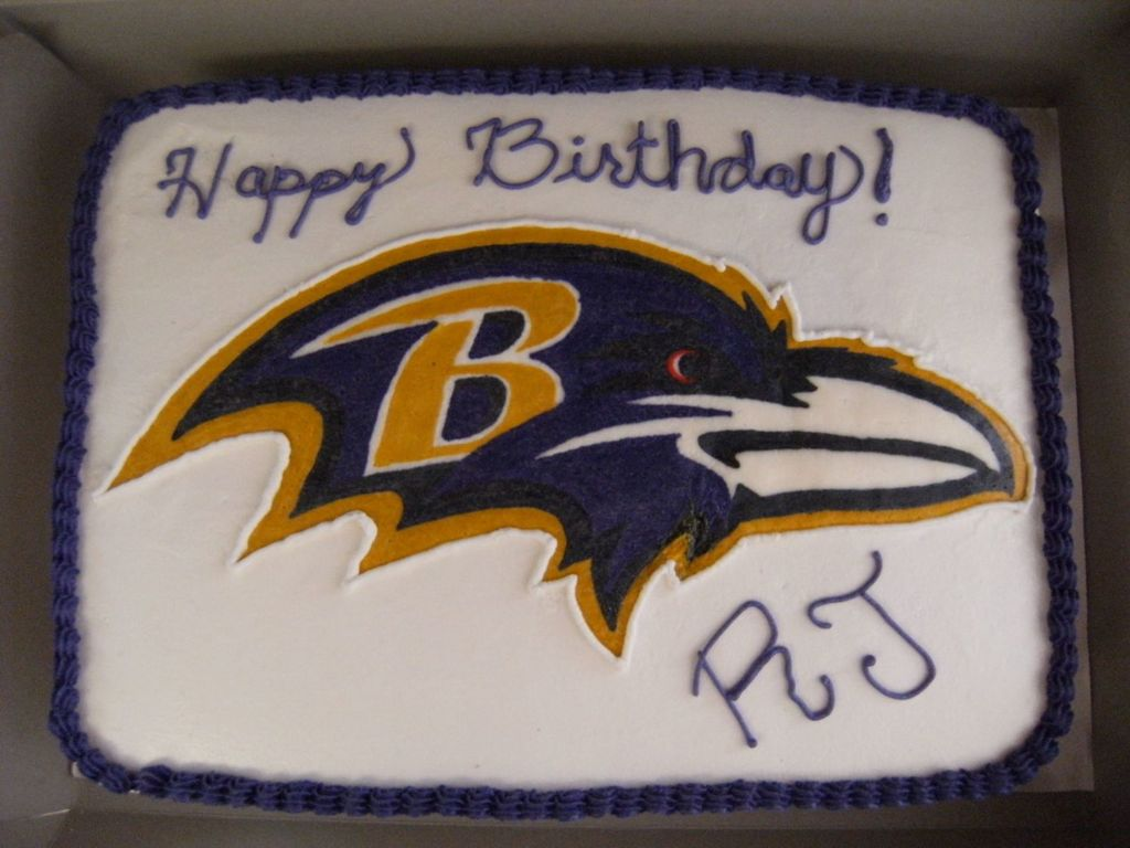 Outstanding Baltimore Ravens Birthday Cake Cakecentral Com Birthday Cards Printable Opercafe Filternl
