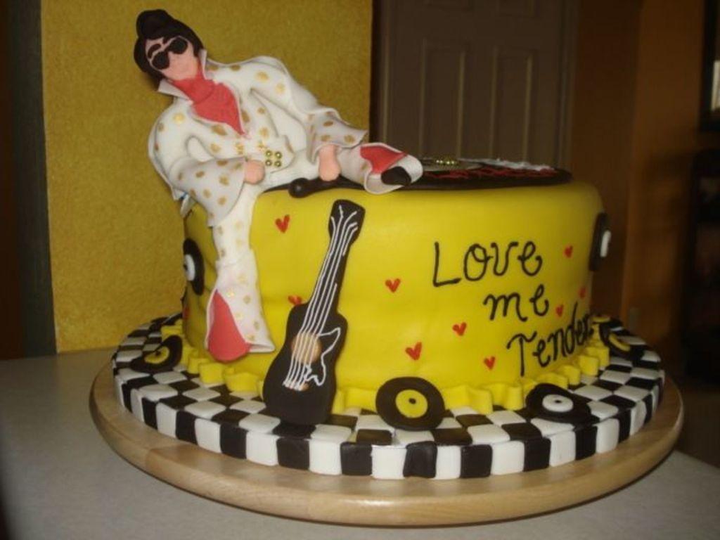 Pleasing Elvis Presley Birthday Cake Cakecentral Com Birthday Cards Printable Inklcafe Filternl