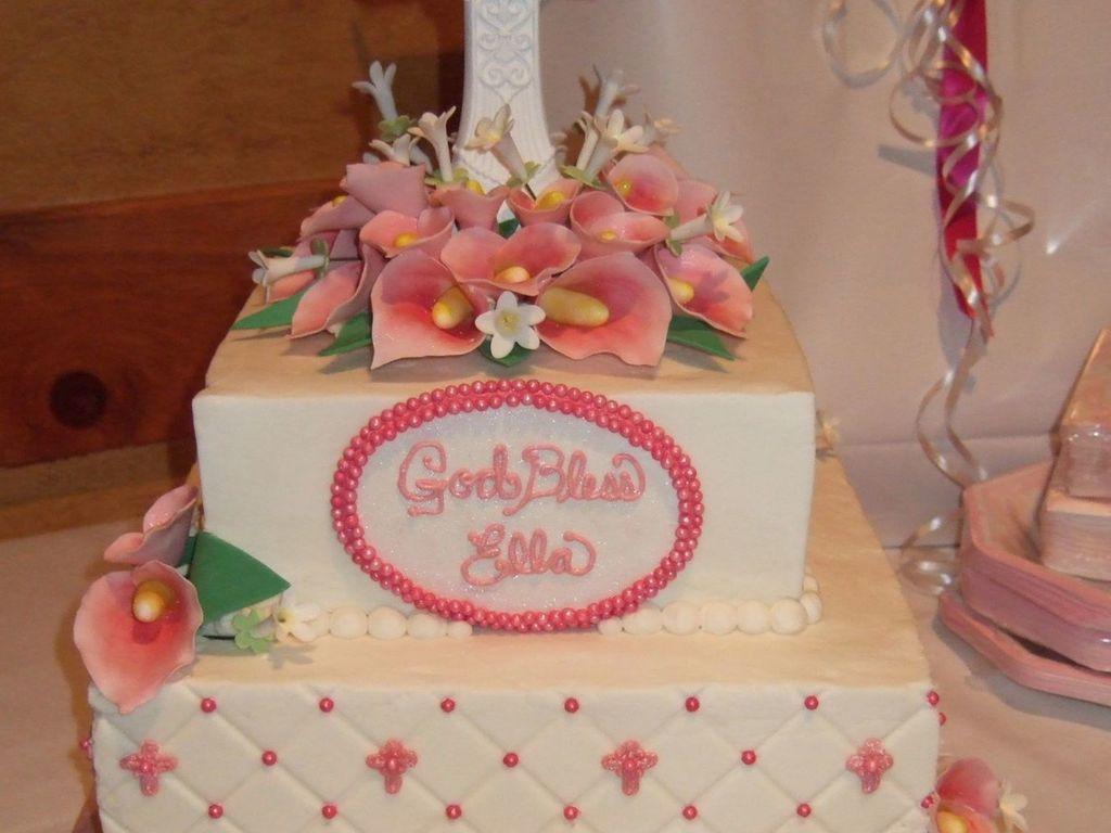 Calla Lily Baptism Cake - CakeCentral.com