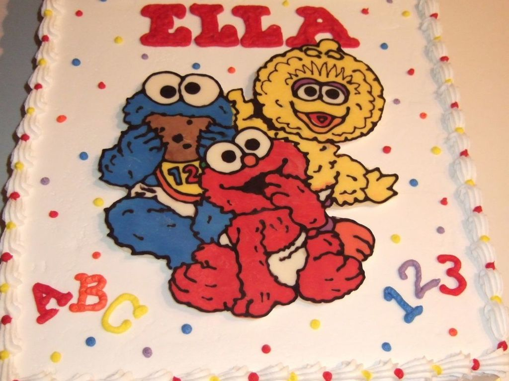Baby Sesame Street Cake
