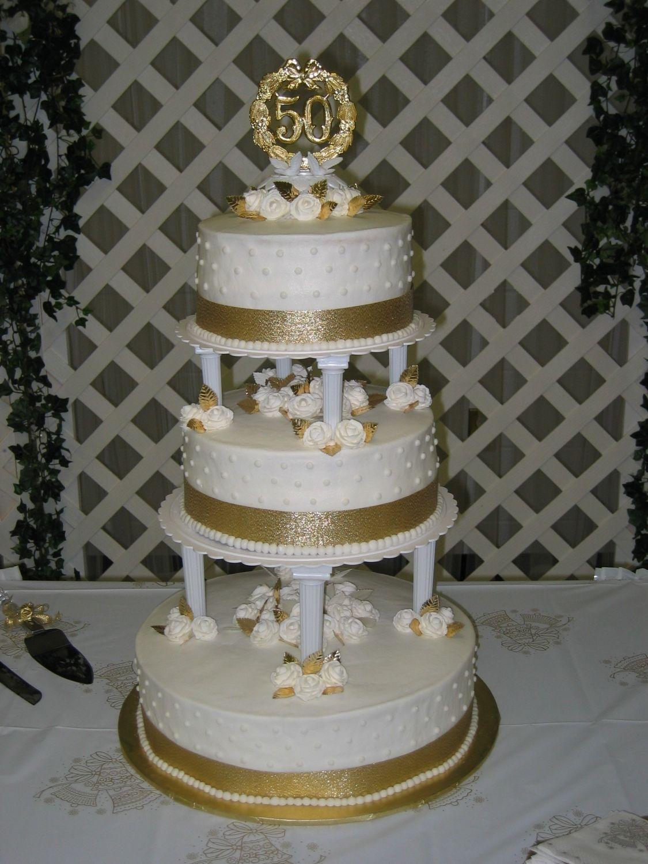 50Th Anniversary Wedding Cake - CakeCentral.com