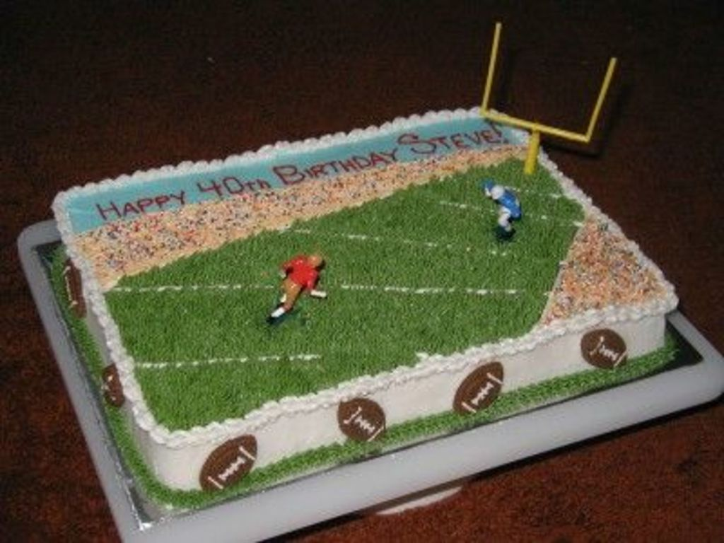 Football Cake Wilton Design CakeCentralcom