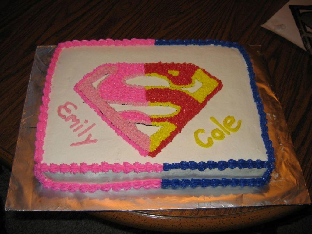 Supergirlboy Birthday Cake CakeCentralcom