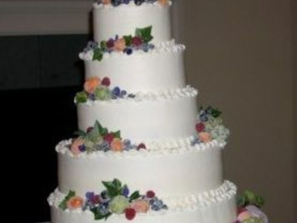 Sugared Fruit 5 Tier Wedding Cake - CakeCentral.com
