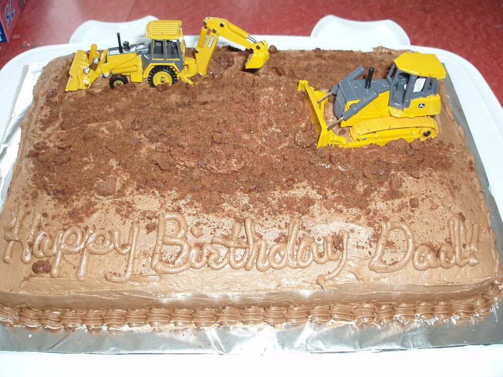 Peachy Bulldozer Birthday Cake Cakecentral Com Personalised Birthday Cards Beptaeletsinfo