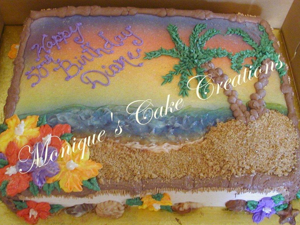 Surprising Palm Tree Birthday Cakecentral Com Birthday Cards Printable Trancafe Filternl