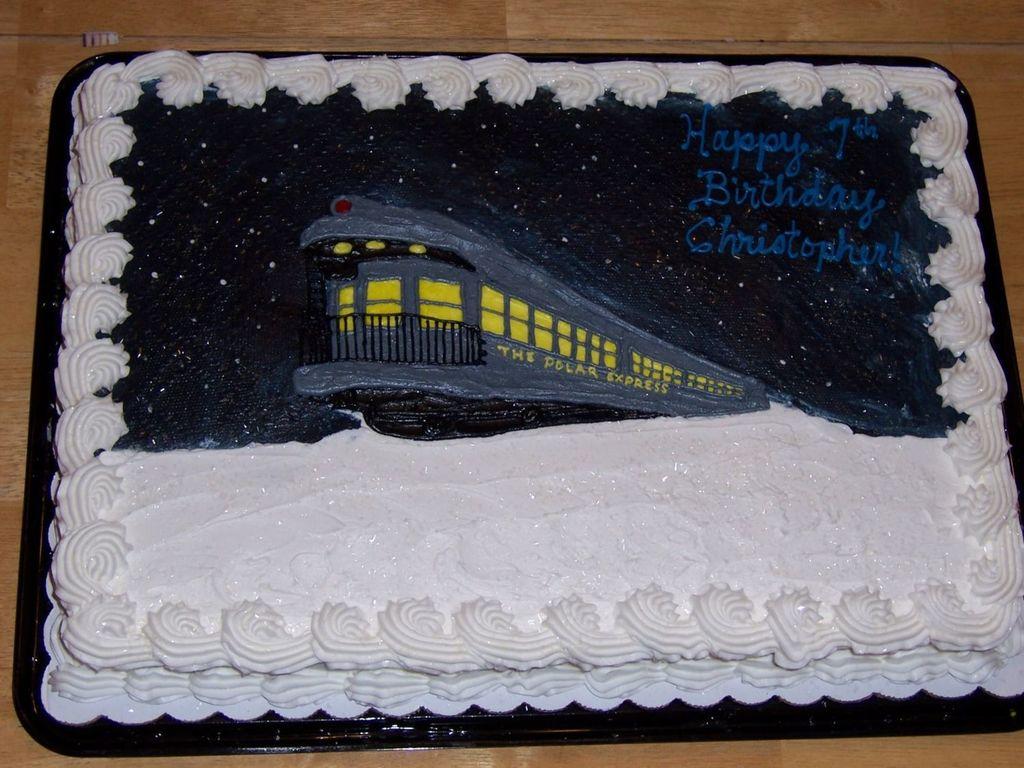Astounding Polar Express Cake Cakecentral Com Funny Birthday Cards Online Elaedamsfinfo