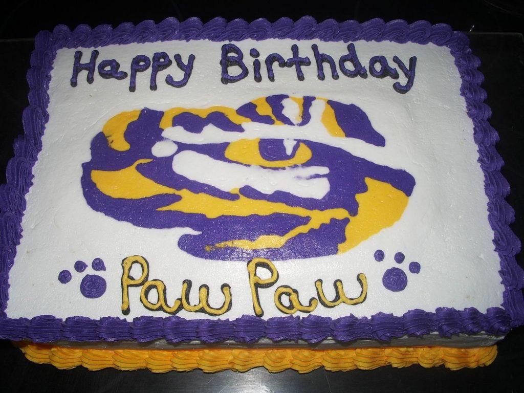 Fabulous Lsu Birthday Cake Cakecentral Com Personalised Birthday Cards Veneteletsinfo