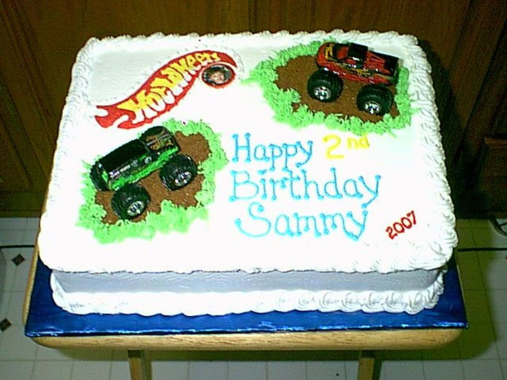 Awe Inspiring Hot Wheels Monster Truck Cake Cakecentral Com Funny Birthday Cards Online Elaedamsfinfo
