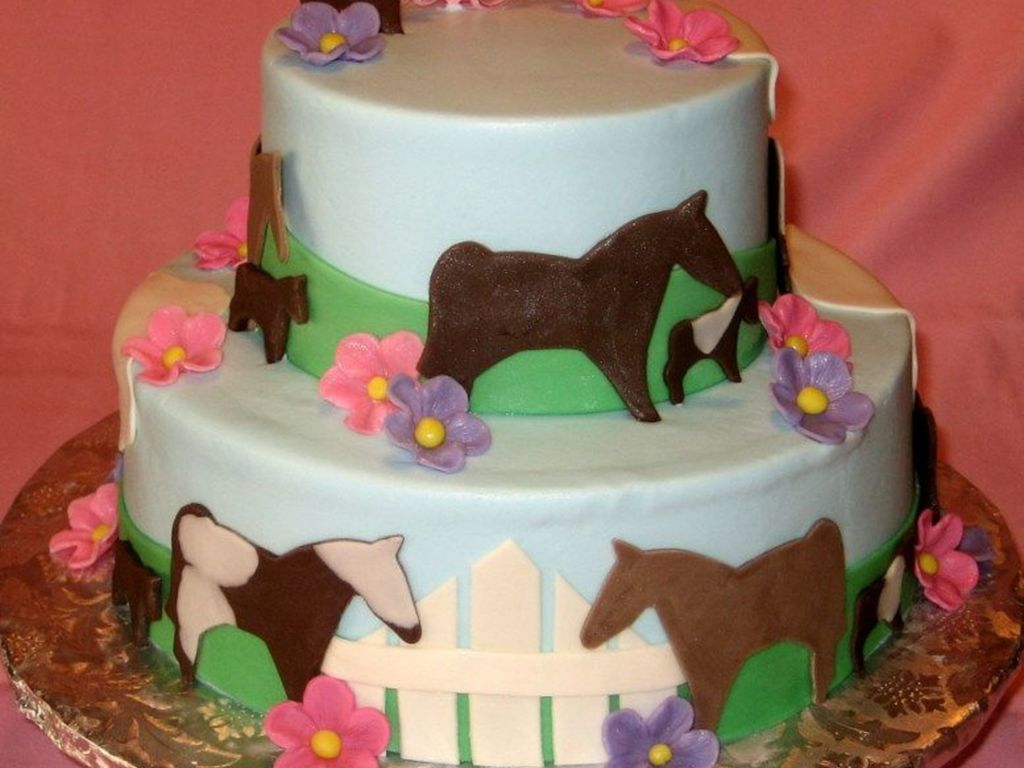 Horse Themed Birthday Cake Cakecentral