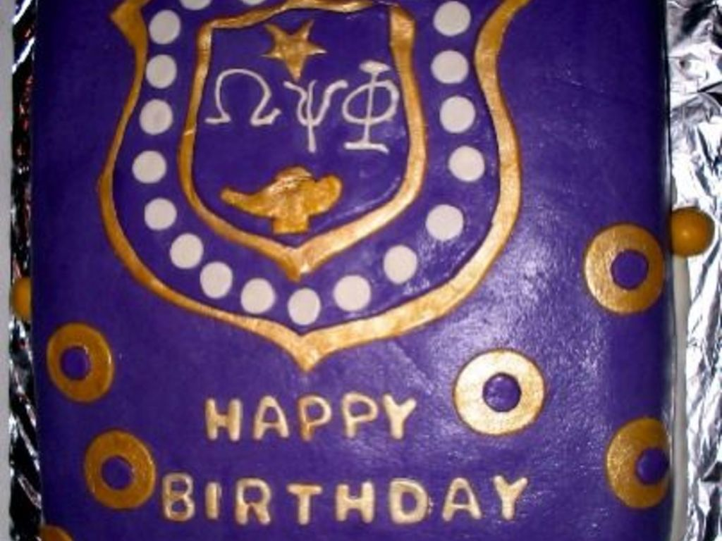 Magnificent Omega Psi Phi Cakecentral Com Funny Birthday Cards Online Elaedamsfinfo