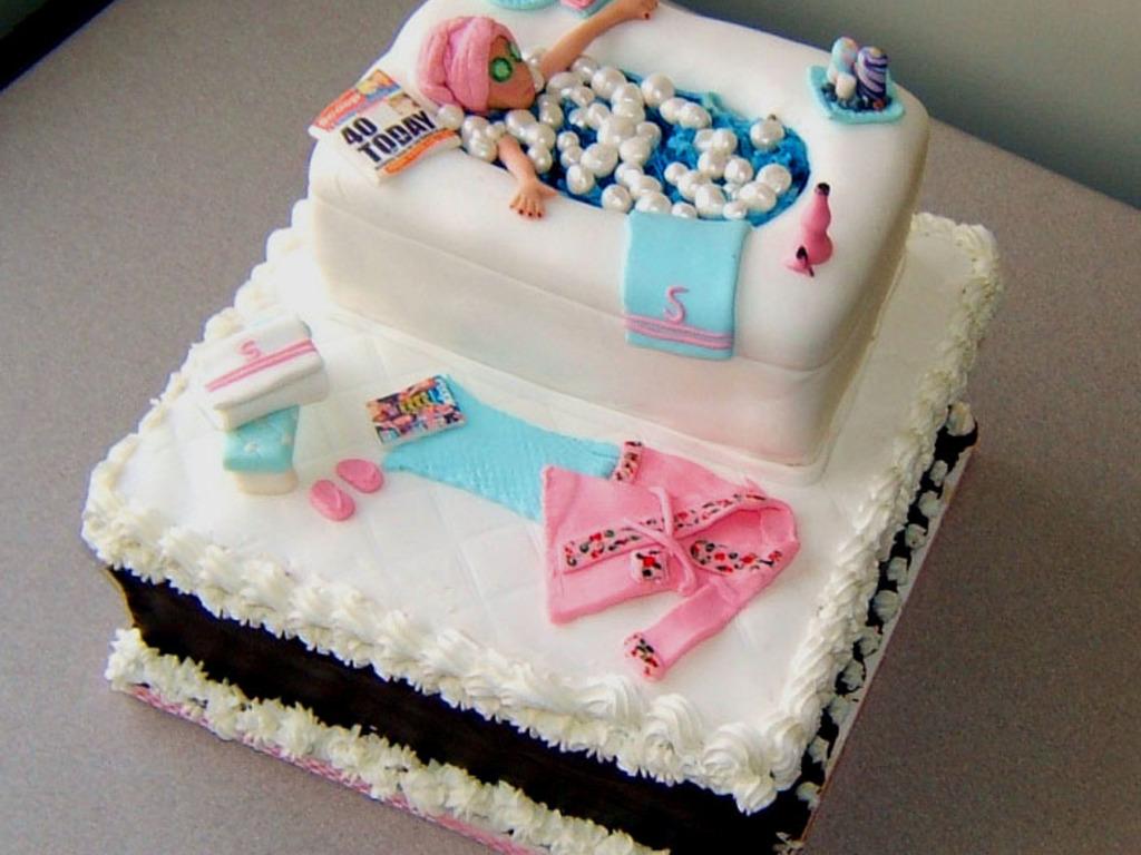 Spa Birthday Cake Cakecentral