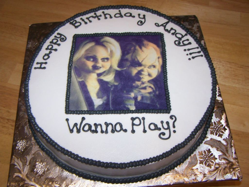 Incredible Chucky And Chuckys Bride Cakecentral Com Funny Birthday Cards Online Sheoxdamsfinfo