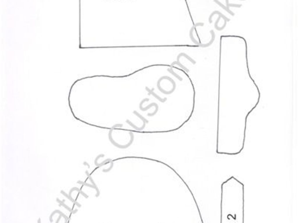 Baby Cowboy Boot Template - CakeCentral.com
