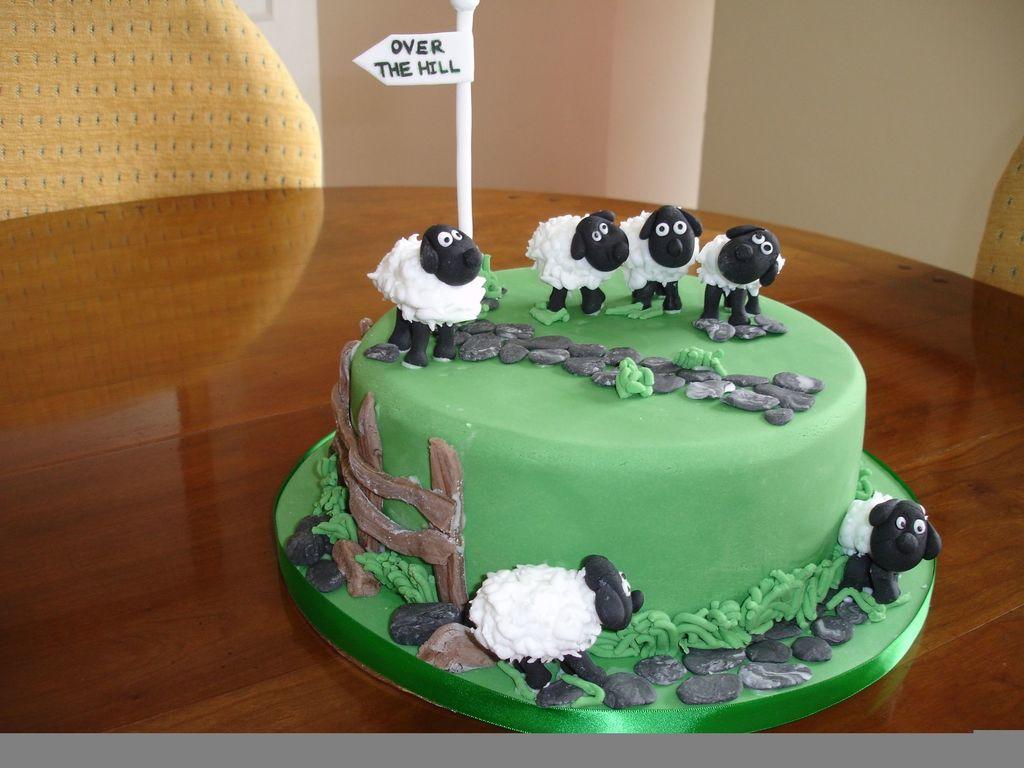 Magnificent Shaun The Sheep Birthday Cake Cakecentral Com Funny Birthday Cards Online Benoljebrpdamsfinfo