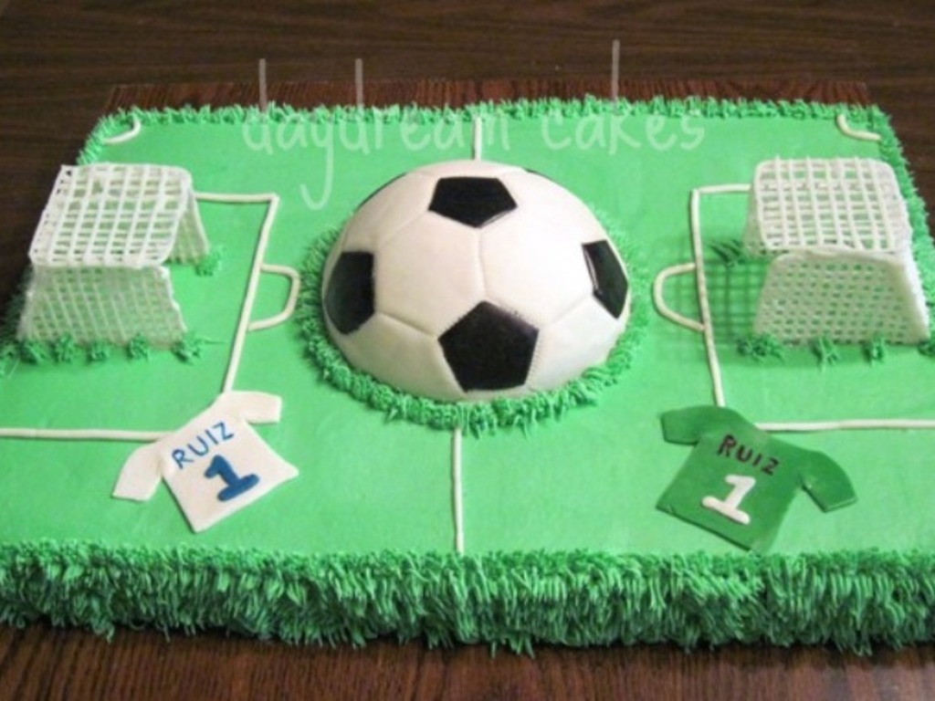 Pleasant Soccer Field Cakecentral Com Funny Birthday Cards Online Aboleapandamsfinfo